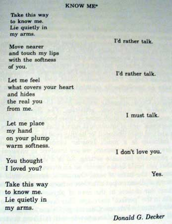 physical touch significance poem